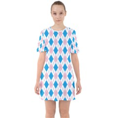 Argyle 316838 960 720 Sixties Short Sleeve Mini Dress