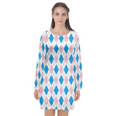 Argyle 316838 960 720 Long Sleeve Chiffon Shift Dress