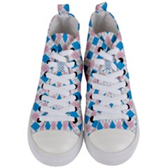 Argyle 316838 960 720 Women s Mid Top Canvas Sneakers
