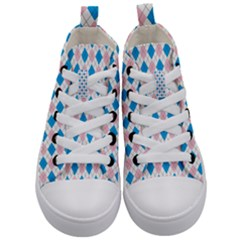 Argyle 316838 960 720 Kid s Mid Top Canvas Sneakers