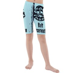 Liftarn Old Can Brown Kids  Mid Length Swim Shorts