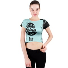 Liftarn Old Can Brown Crew Neck Crop Top