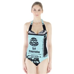 Liftarn Old Can Brown Halter Swimsuit