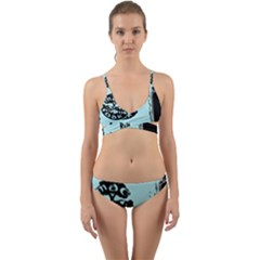 Liftarn Old Can Brown Wrap Around Bikini Set