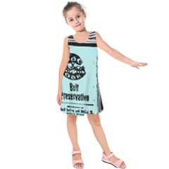 Liftarn Old Can Brown Kids  Sleeveless Dress