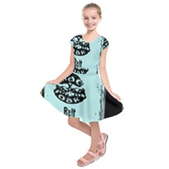 Liftarn Old Can Brown Kids  Short Sleeve Dress