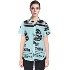Liftarn Old Can Brown Women s Short Sleeve Shirt