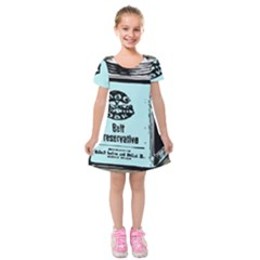Liftarn Old Can Brown Kids  Short Sleeve Velvet Dress