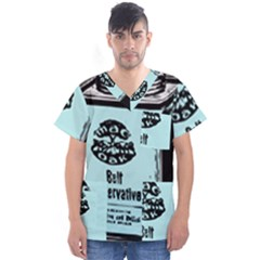 Liftarn Old Can Brown Men s V Neck Scrub Top