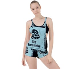Liftarn Old Can Brown Boyleg Tankini Set