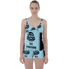 Liftarn Old Can Brown Tie Front Two Piece Tankini