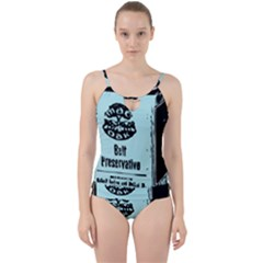 Liftarn Old Can Brown Cut Out Top Tankini Set