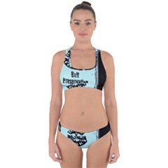 Liftarn Old Can Brown Cross Back Hipster Bikini Set