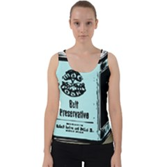 Liftarn Old Can Brown Velvet Tank Top