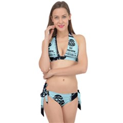 Liftarn Old Can Brown Tie It Up Bikini Set