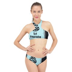Liftarn Old Can Brown High Neck Bikini Set