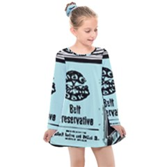 Liftarn Old Can Brown Kids  Long Sleeve Dress