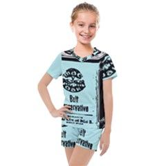 Liftarn Old Can Brown Kids  Mesh Tee And Shorts Set