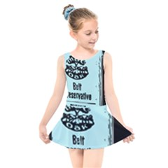 Liftarn Old Can Brown Kids  Skater Dress Swimsuit