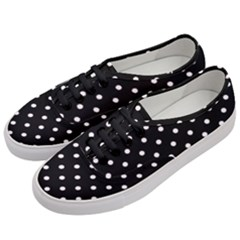 1950 Black White Dots Women s Classic Low Top Sneakers by TheLegShop