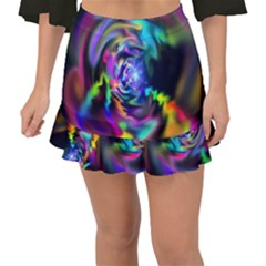 Soft Blend Color Wheel Fishtail Mini Chiffon Skirt by bloomingvinedesign