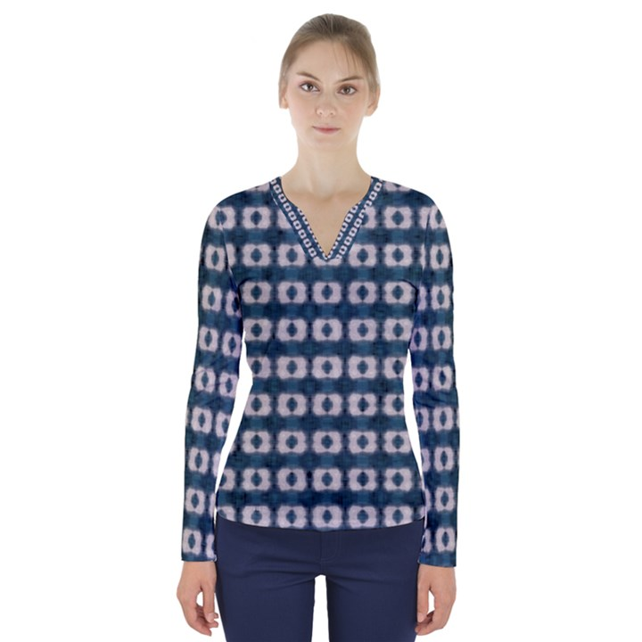 contemplaid20 V-Neck Long Sleeve Top