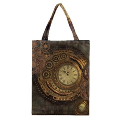 Awesome Steampunk Design, Clockwork Classic Tote Bag by FantasyWorld7