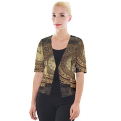 Awesome Steampunk Design, Clockwork Cropped Button Cardigan by FantasyWorld7