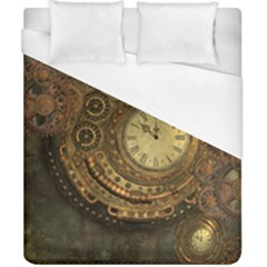 Awesome Steampunk Design, Clockwork Duvet Cover (california King Size) by FantasyWorld7