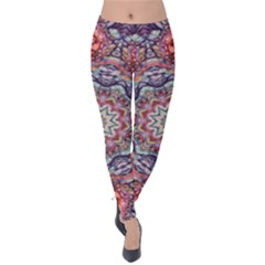 Pink Purple Abstract Velvet Leggings