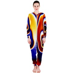 Fractal Art Paint Pattern Texture Onepiece Jumpsuit (ladies)