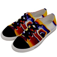 Fractal Art Paint Pattern Texture Men s Low Top Canvas Sneakers by Samandel