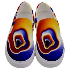 Fractal Art Paint Pattern Texture Men s Canvas Slip Ons