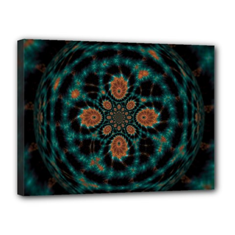 Abstract Digital Geometric Pattern Canvas 16  X 12  (stretched)