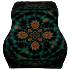 Abstract Digital Geometric Pattern Car Seat Velour Cushion