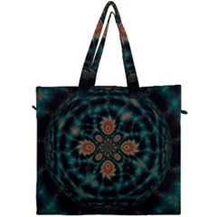 Abstract Digital Geometric Pattern Canvas Travel Bag by Samandel