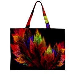 Abstract Digital Art Fractal Zipper Mini Tote Bag by Samandel