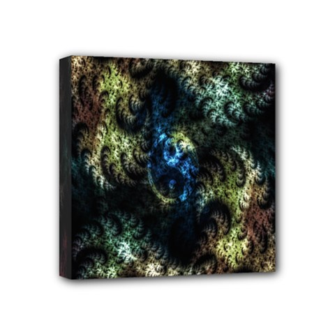 Abstract Digital Art Fractal Mini Canvas 4  X 4  (stretched)
