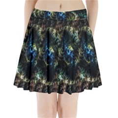 Abstract Digital Art Fractal Pleated Mini Skirt