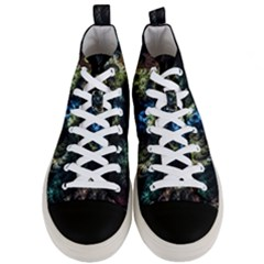 Abstract Digital Art Fractal Men s Mid Top Canvas Sneakers