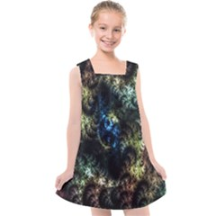 Abstract Digital Art Fractal Kids  Cross Back Dress