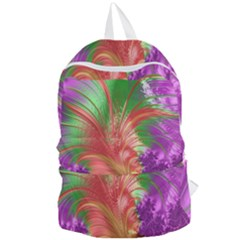 Fractal Purple Green Orange Yellow Foldable Lightweight Backpack