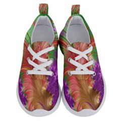 Fractal Purple Green Orange Yellow Running Shoes