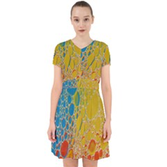 Bubbles Abstract Lights Yellow Adorable In Chiffon Dress