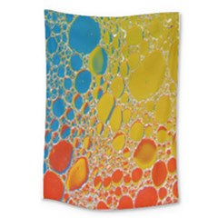 Bubbles Abstract Lights Yellow Large Tapestry