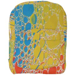 Bubbles Abstract Lights Yellow Full Print Backpack