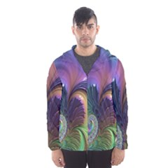 Fractal Artwork Art Swirl Vortex Hooded Windbreaker (men)