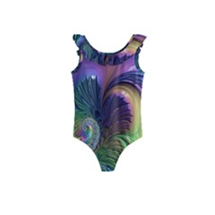 Fractal Artwork Art Swirl Vortex Kids  Frill Swimsuit