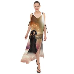 Awesome Dark Fairy In The Sky Maxi Chiffon Cover Up Dress