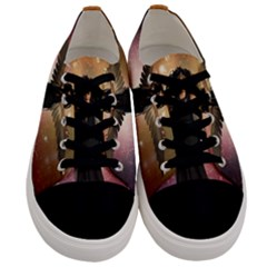 Awesome Dark Fairy In The Sky Men s Low Top Canvas Sneakers
